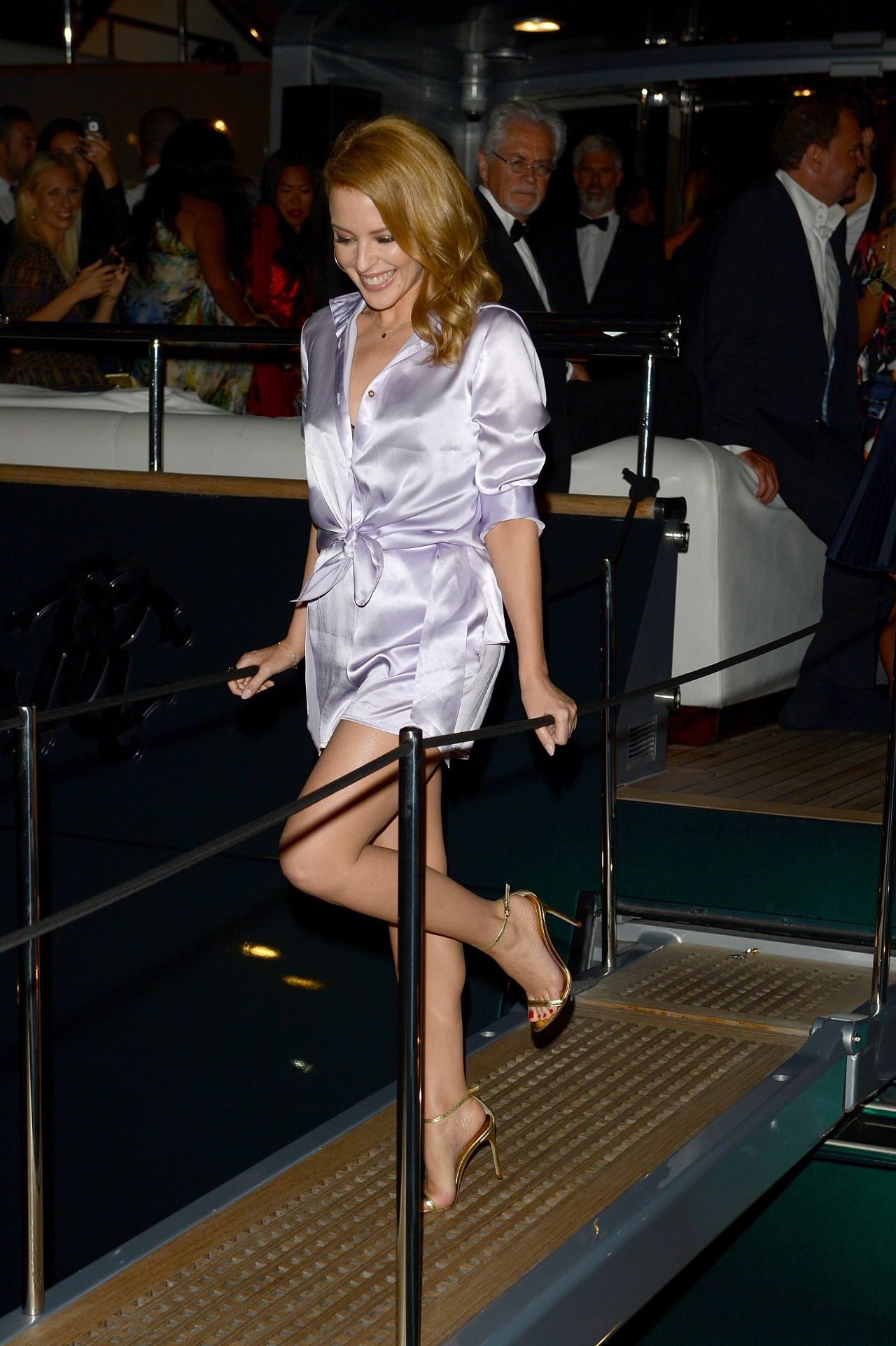 Kylie Minogue – Roberto Cavalli Hosts Annual Party Aboard His Yacht – 2014 Cannes Film Festival