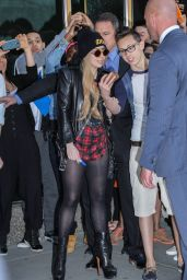 Lady Gaga Shows Her Legs - New York City - May 2014