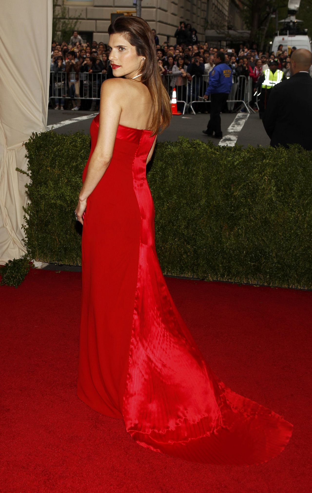 Lake Bell Wearing Tommy Hilfiger Gown – 2014 Met Costume Institute Gala