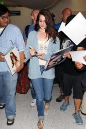 Lana Del Rey - Arriving at LAX Airport - May 2014