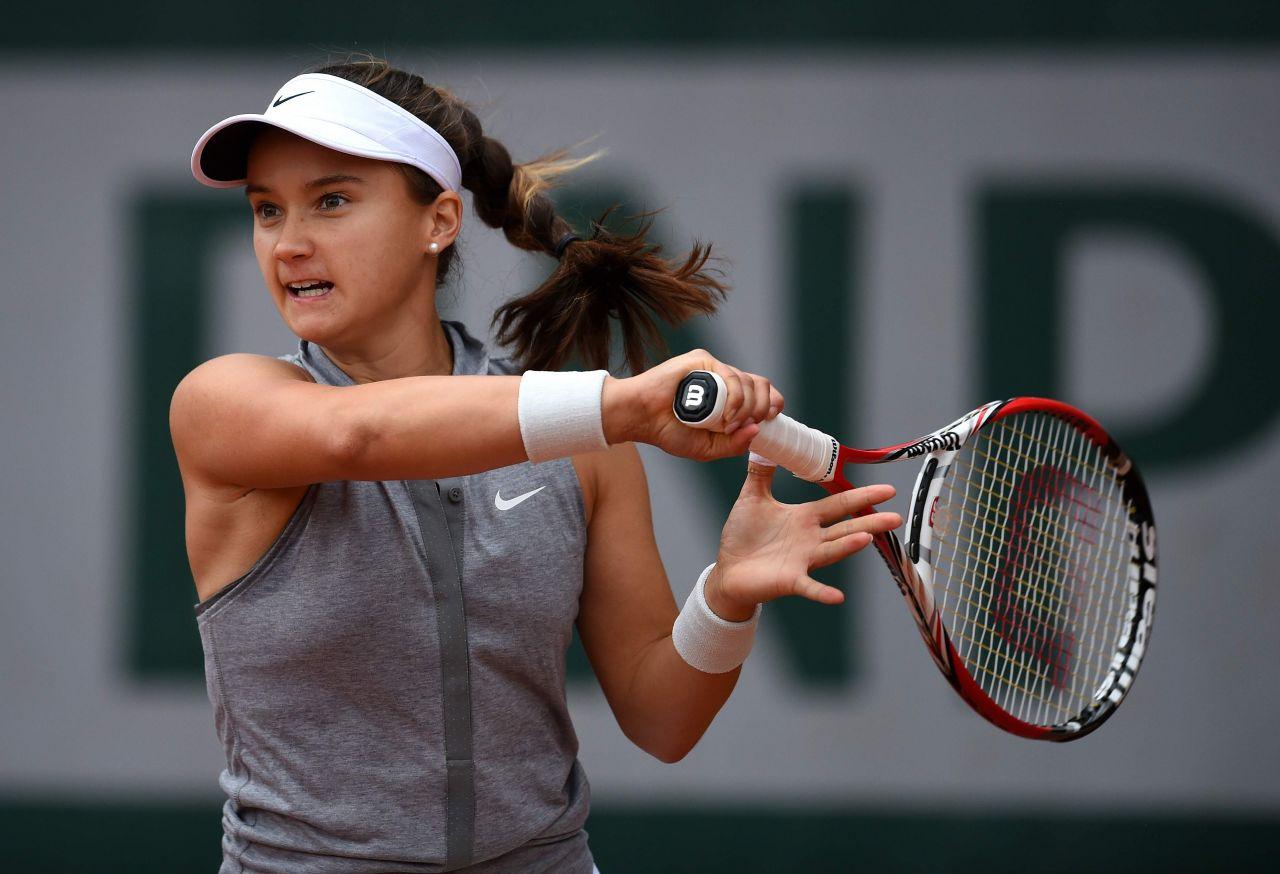 Lauren Davis 2014 French Open At Roland Garros Second