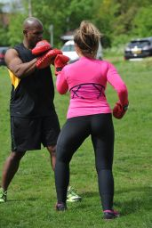 Lauren Goodger in Spandex - Workout in King George