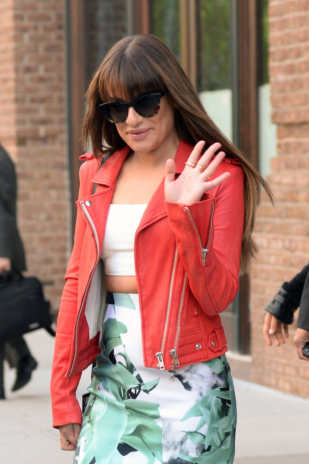 Lea Michele Casual Style - Heading Out From Her Hotel in New York City - May 2014