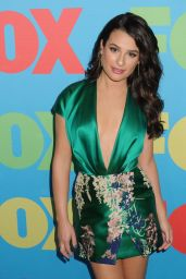 Lea Michele Wearing Blumarine Mini Dress - Fox Upfronts 2014