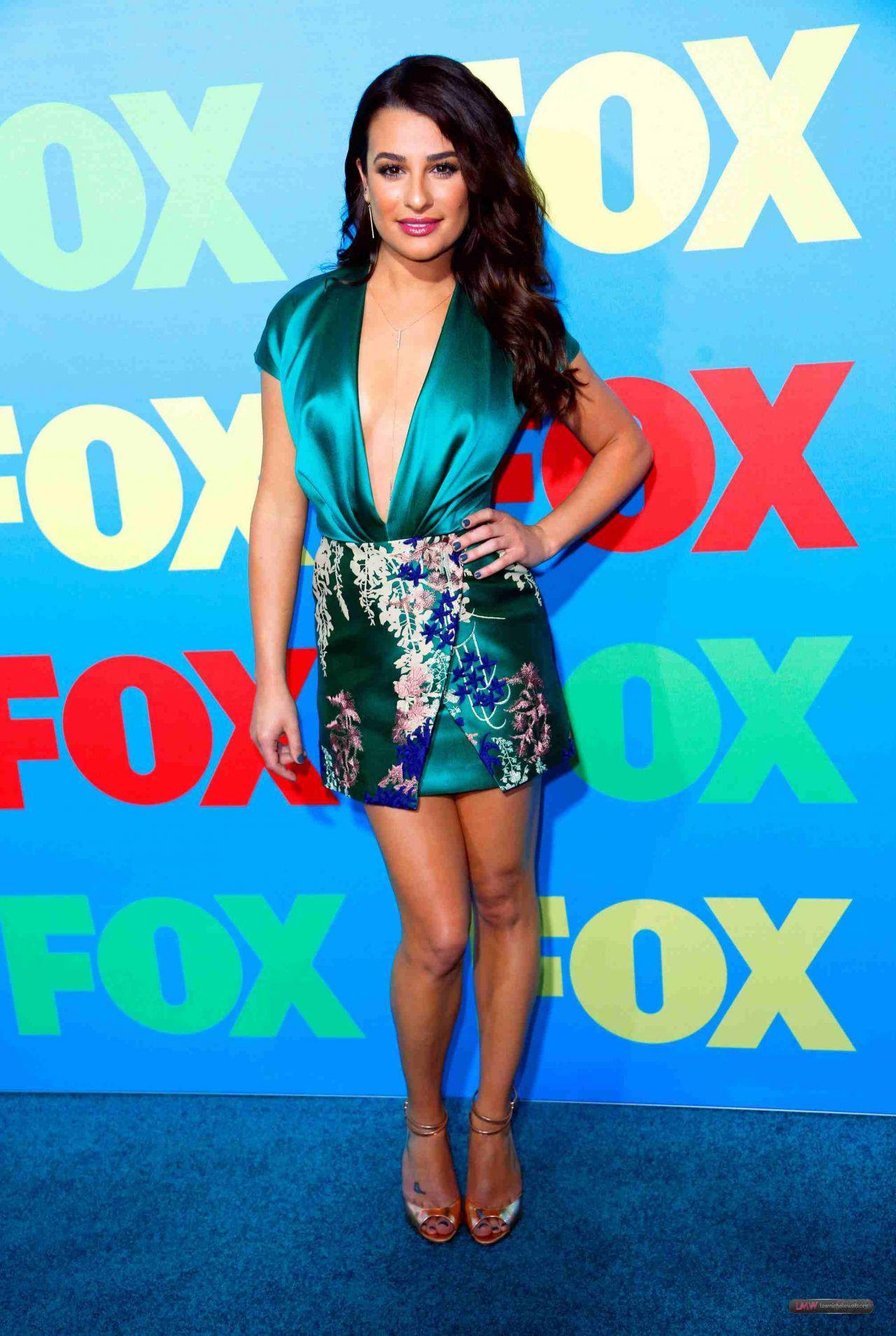 Mini Of San Francisco >> Lea Michele Wearing Blumarine Mini Dress - Fox Upfronts 2014