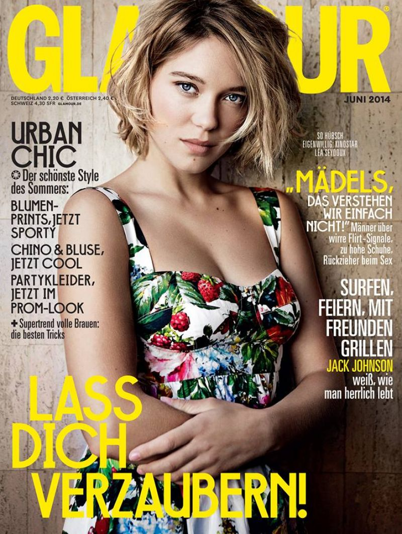 Lea Seydoux - Glamour Magazine (Germany) June 2014 Cover