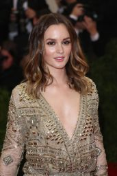 Leighton Meester Wearing Emilio Pucci Sheer Gown – 2014 Met Costume Institute Gala