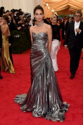 Lily Aldridge Wearing Michael Kors Gown - 2014 Met Costume Institute Gala