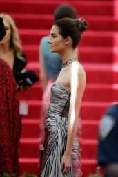 Lily Aldridge Wearing Michael Kors Gown - 2014 Met Costume Institute Gala