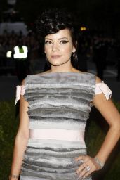 Lily Allen in Chanel Couture Gown – 'Charles James: Beyond Fashion' Costume Institute Gala 2014