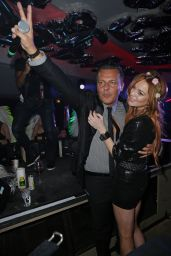 Lindsay Lohan Night Out Style - VIP Room Nightclub in Cannes - May 2014