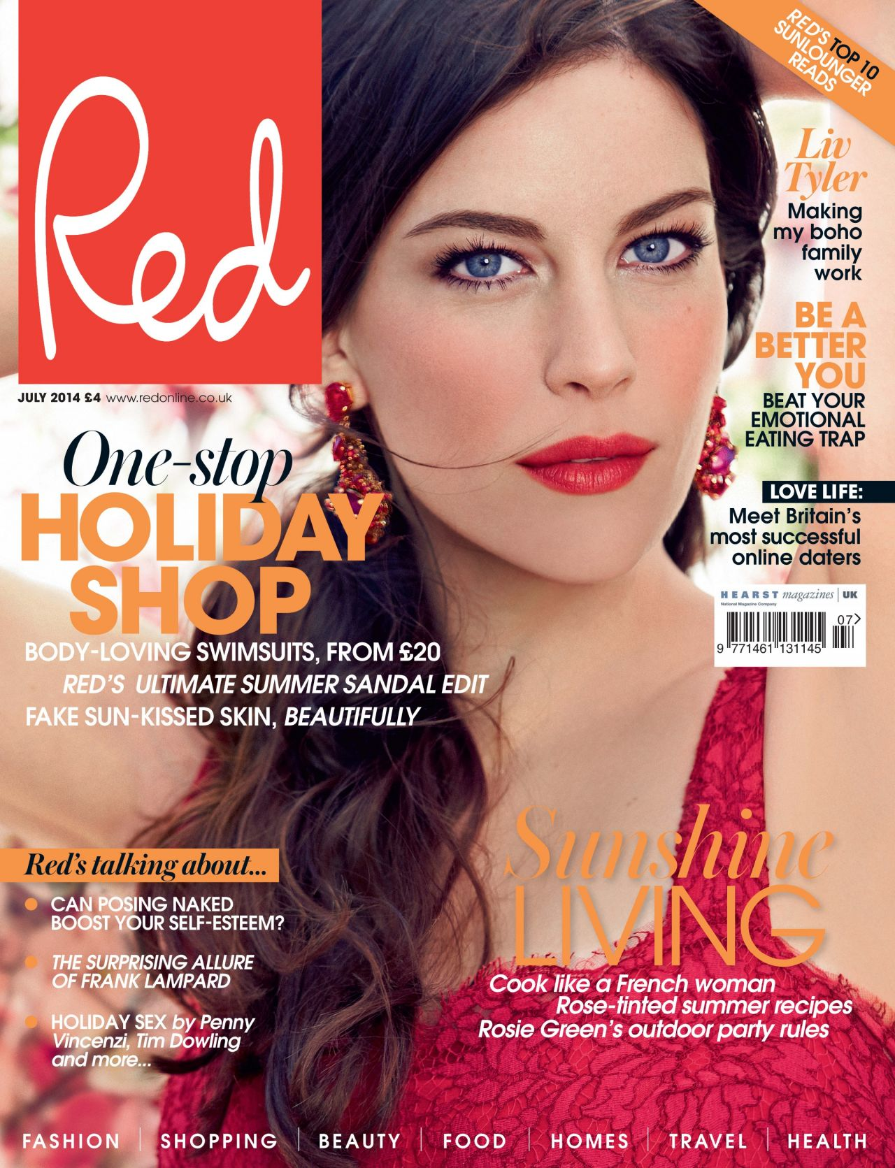 Liv Tyler - Red Magazine (UK) - July 2014 Cover