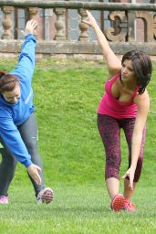 Lucy Mecklenburgh - Booty Camp in Shropshire - May 2014