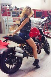 Maddalena Corvaglia Ride Mototbike in Micro Shorts