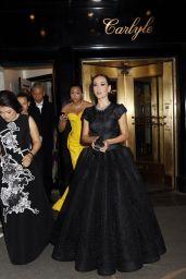 Maggie Q Wearing Zac Posen Black Ball Gown– 2014 Met Costume Institute Gala