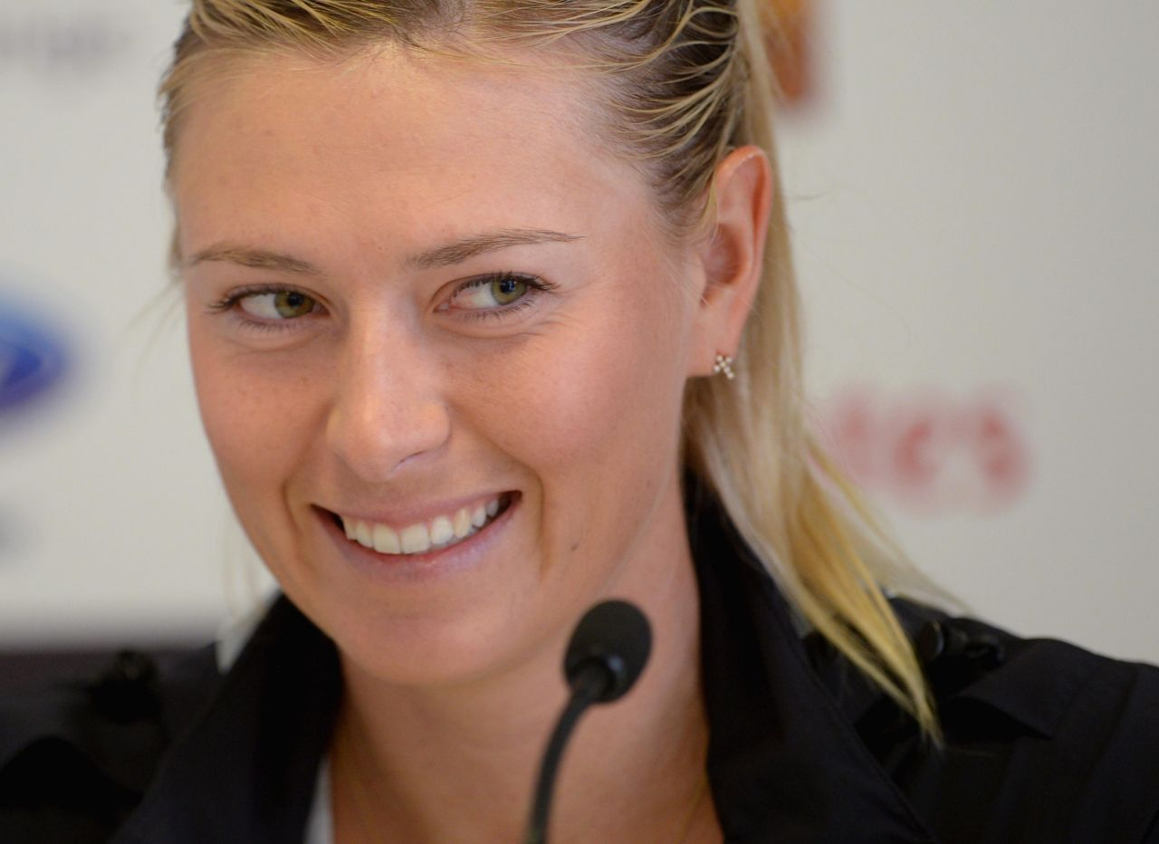 Maria Sharapova - Press Conference at Italian Open 2014 in Rome