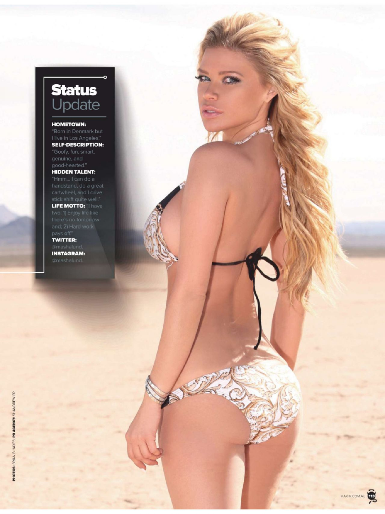 Masha Lund Maxim Magazine Australia June 2014 Issue