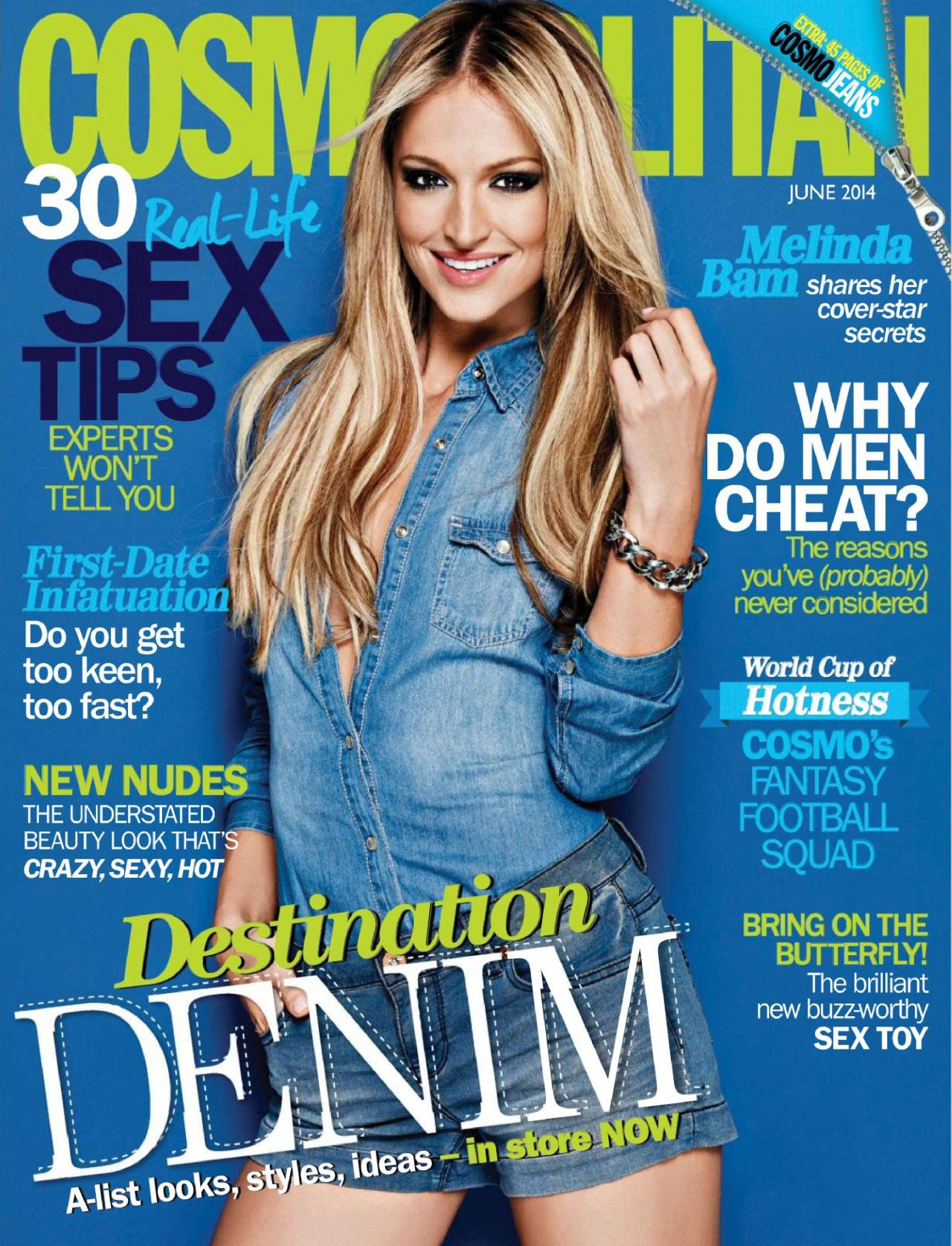 Melinda Bam – Cosmopolitan Magazine (South Africa) June 2014 Issue