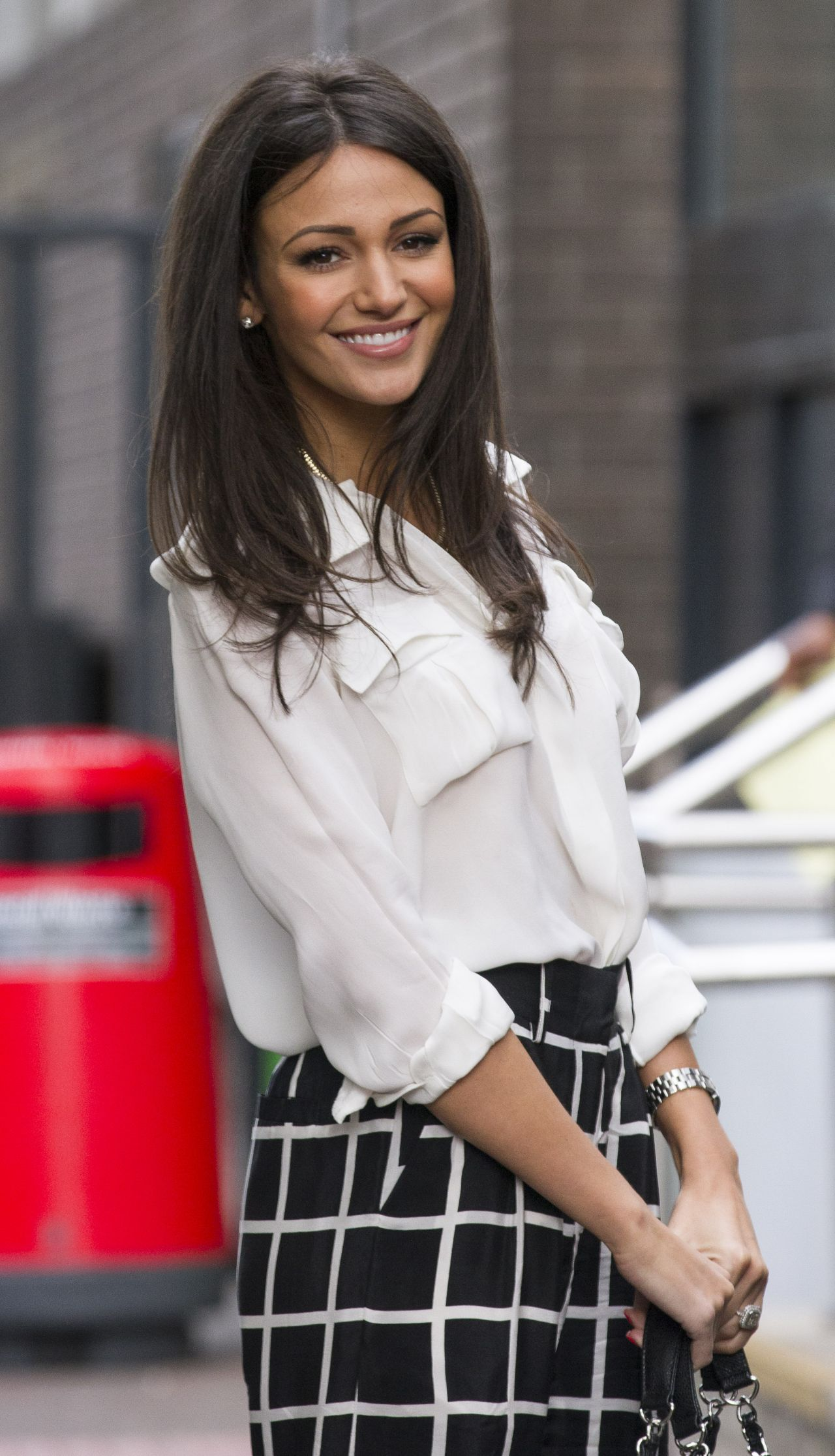 Michelle Keegan Casual Style - Outside ITV Studios in London - May 2014