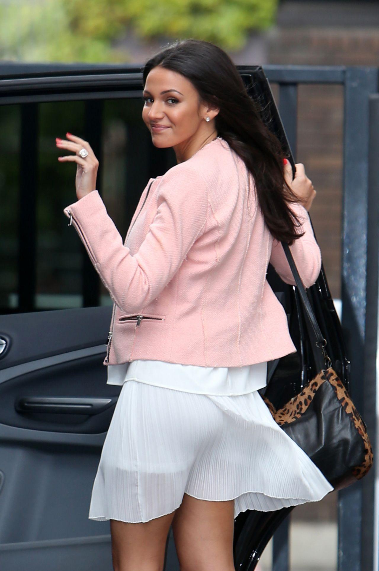 Michelle Keegan In White Skirt Leaving Itv Studios May