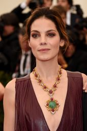 Michelle Monaghan Wearing Altuzarra Fringe Leather Gown - 2014 Met Costume Institute Gala