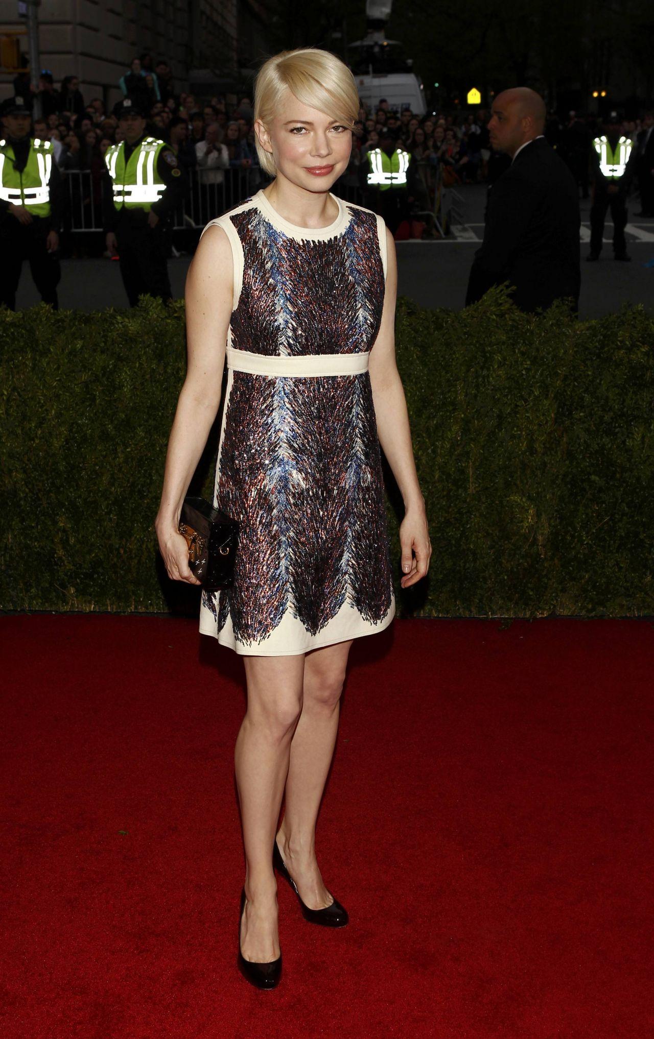 michelle williams in louis vuitton dress � 2014 met