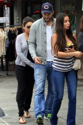 Mila Kunis and Ashton Kutcher - Out in Los Feliz - May 2014