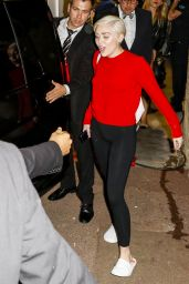 Miley Cyrus Casual Style - Leaving the Sporting Club in Monte-Carlo - May 2014