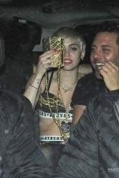 Miley Cyrus Night Out Style - at Madam JoJo Nightclub in London - May 2014