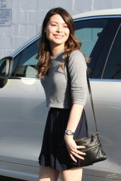 Miranda Cosgrove in a Skirt - Leaving Fred Segal in West Hollywood, April 2014
