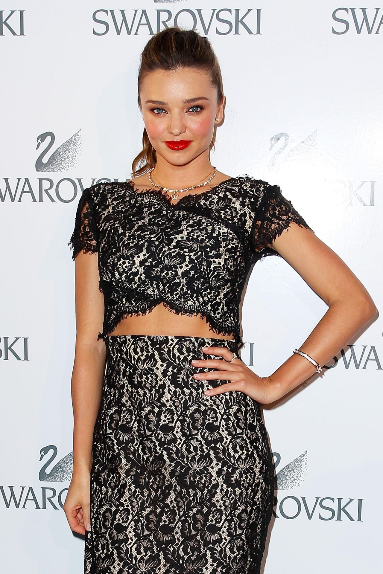 Miranda Kerr Wearing Lover Dress at  Swarovski Gala Dinner at the Sydney Opera House - May 2014