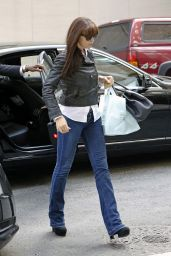 Monica Bellucci in Jeans - Leaving Her Hotel in New York City - May 2014
