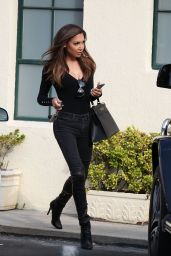 Naya Rivera at a Gas Station in West hollywood - May 2014