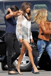 Naya Rivera Shows Off Her Long Legs - Out in Los Angeles - May 2014