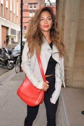 Nicole Scherzinger - Visits the Kiss FM Studio in London - May 2014