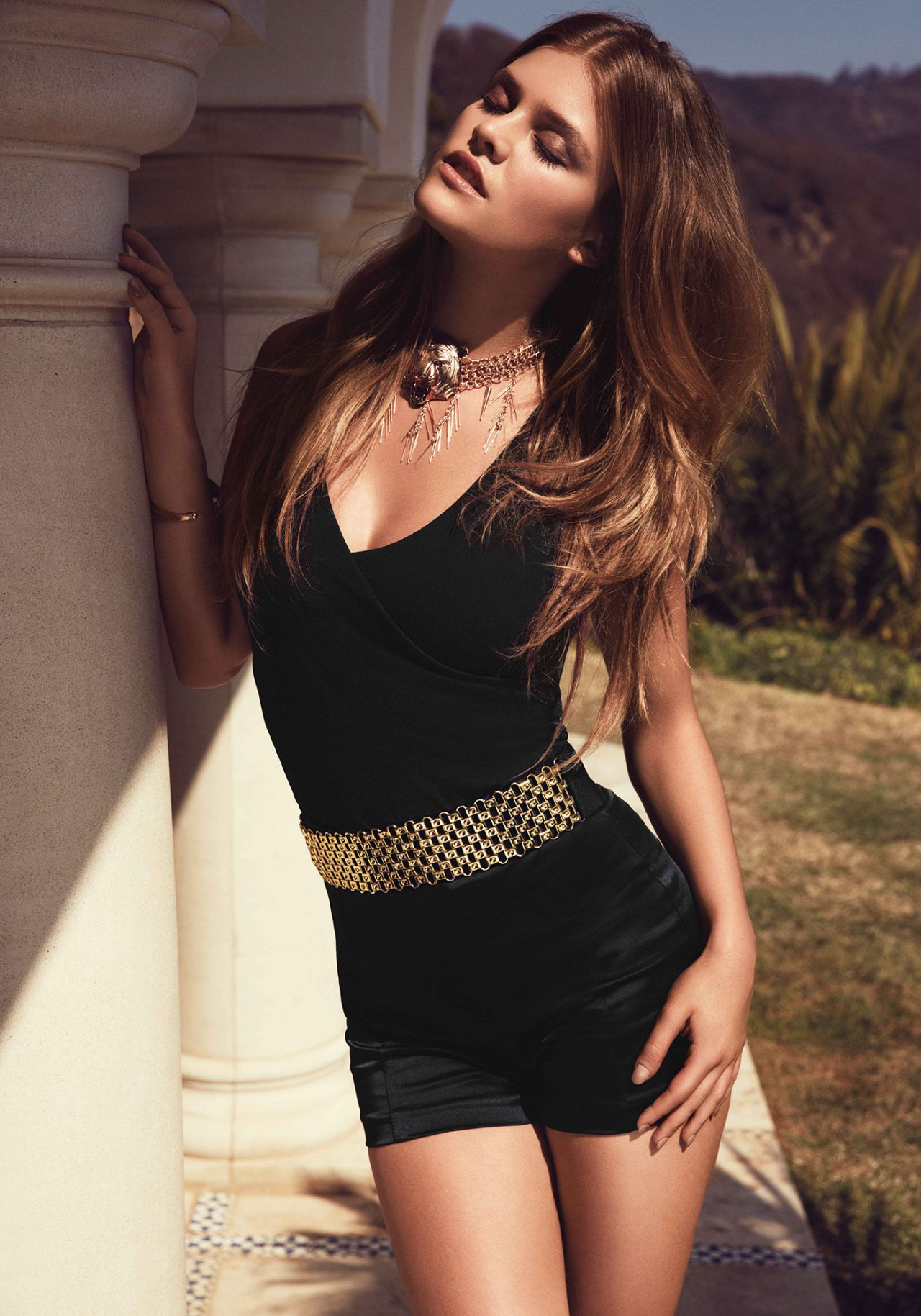 Nina Agdal Photoshoot – Bebe Summer 2014