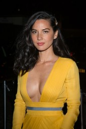 Olivia Munn Wearing Diane von Furstenberg Yellow Gown – 2014 Met Costume Institute Gala
