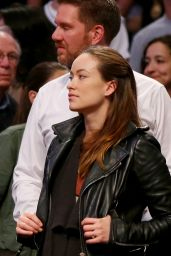 Olivia Wilde at Brooklyn Nets Basketball Game - May 2014