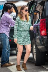 Olivia Wilde in Mini Dress - Out in NYC - May 2014
