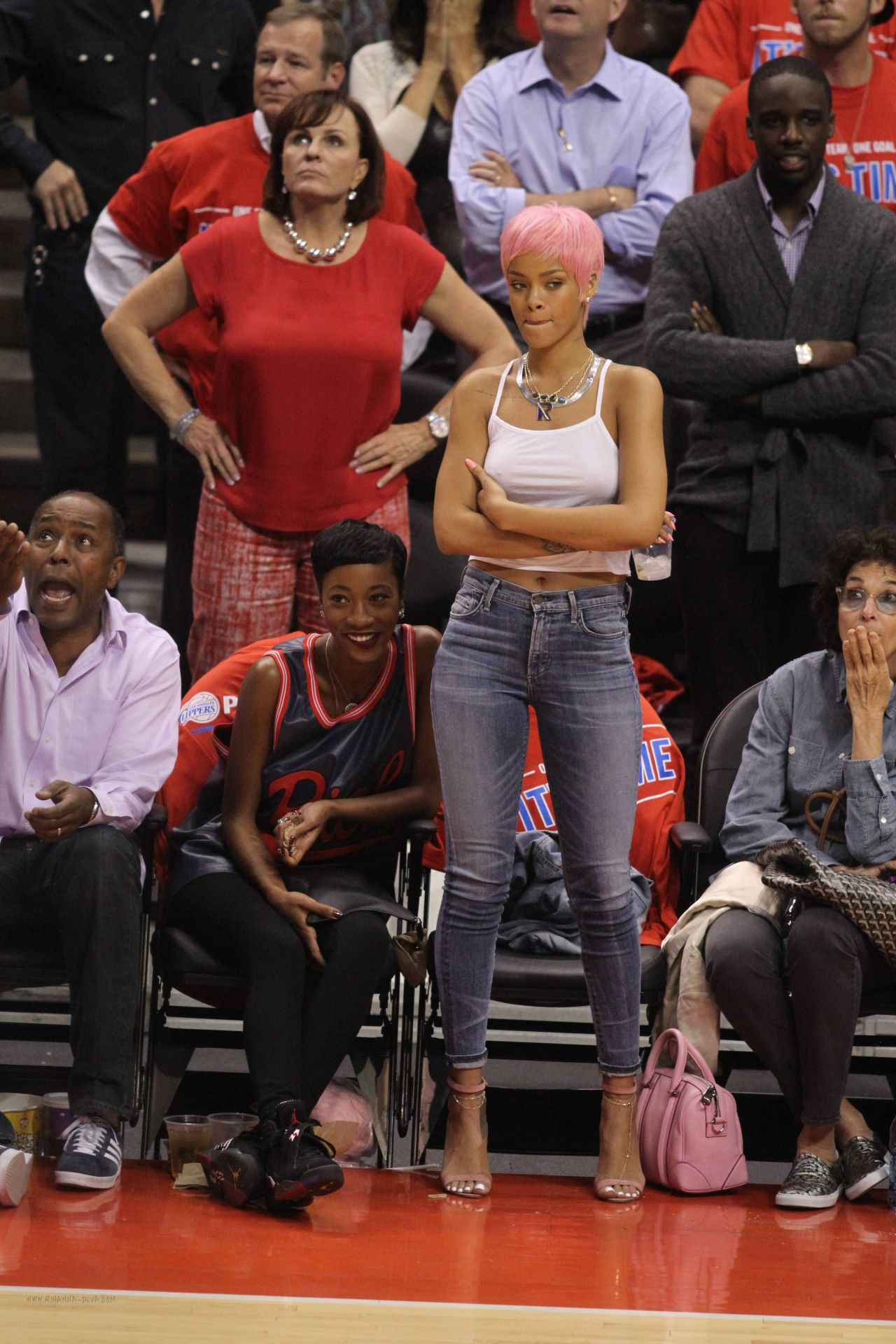 Rihanna At The Clippers Game In Los Angeles May 2014