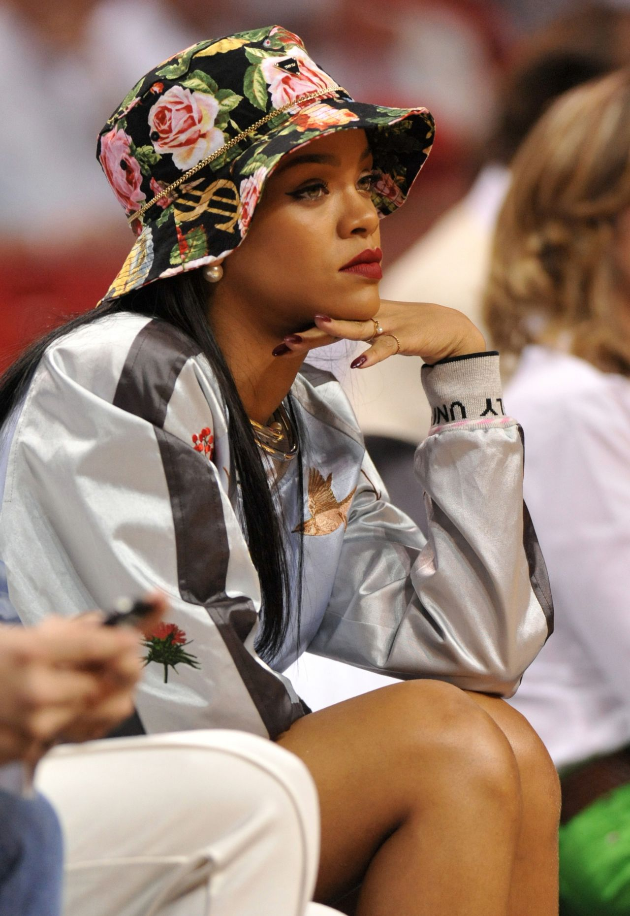 Rihanna Miami Heat Basketball Game May 2014