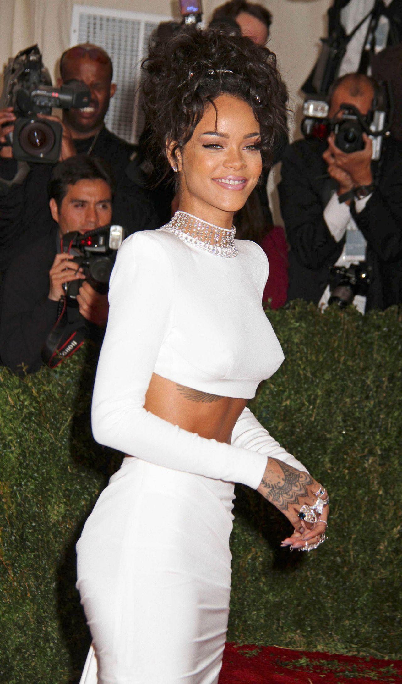 Rihanna Wearing Stella Mccarteny 2014 Met Costume