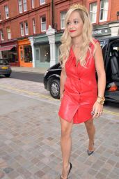 Rita Ora in Red Dress - Capital FM Studios in London - May 2014