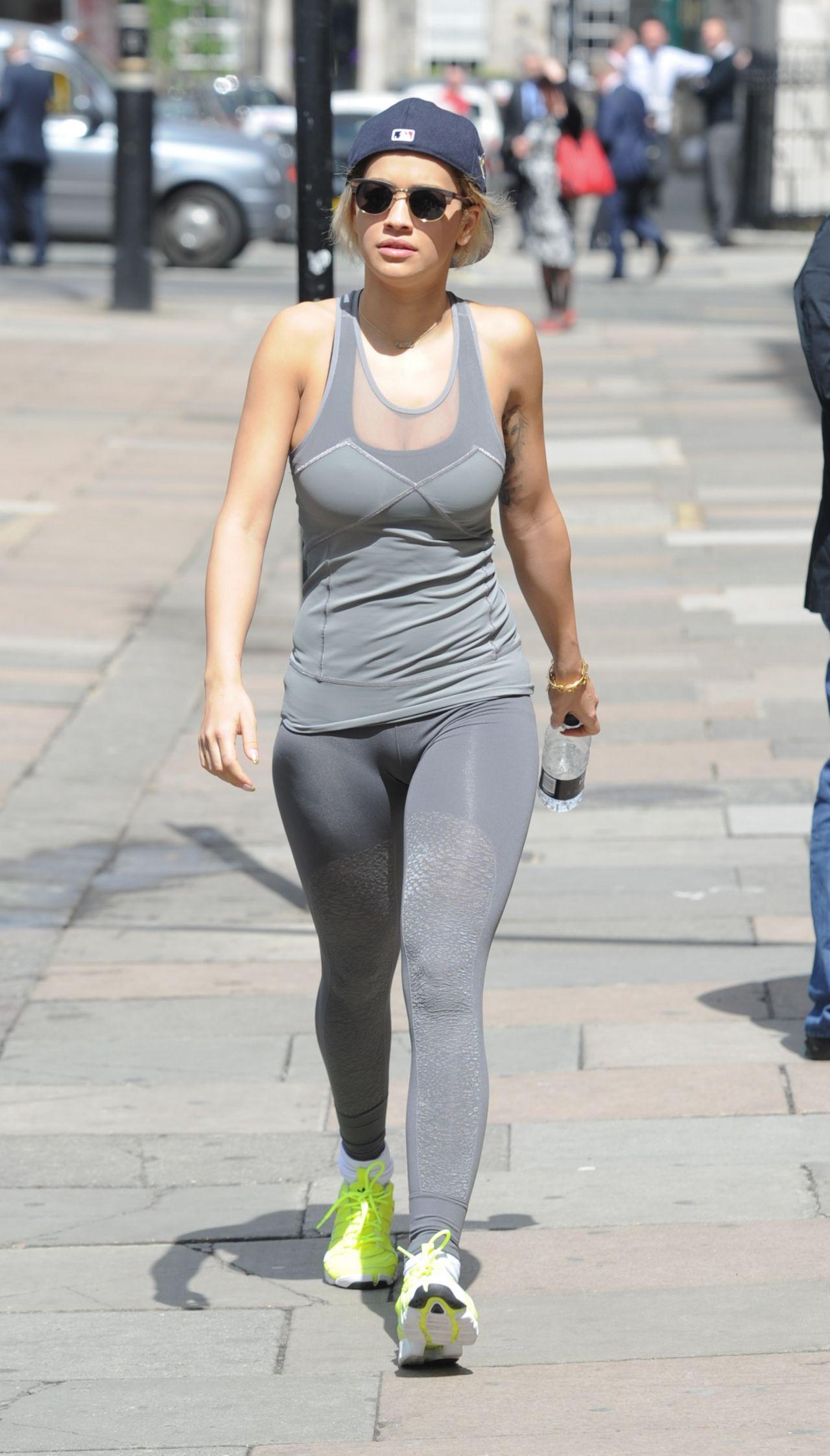 Rita Ora in Tights at a Gym in London - May 2014