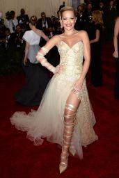 Rita Ora Wearing Donna Karan Atelier Gown – 2014 Met Costume Institute Gala