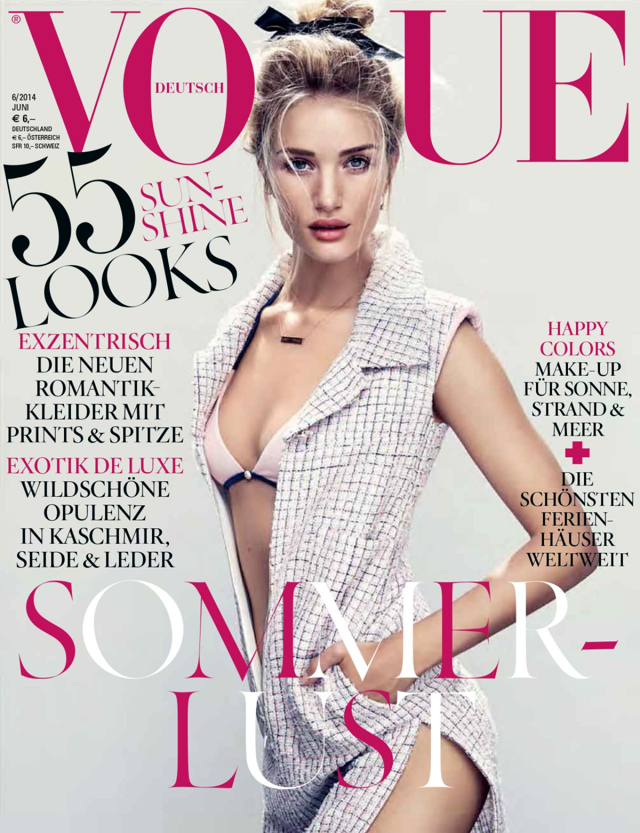 Rosie Huntington-Whiteley - Vogue Magazine (Germany) June 2014 Issue