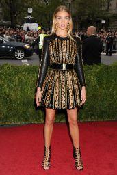 Rosie Huntington-Whiteley Wearing Balmain Dress – 2014 Met Costume Institute Gala