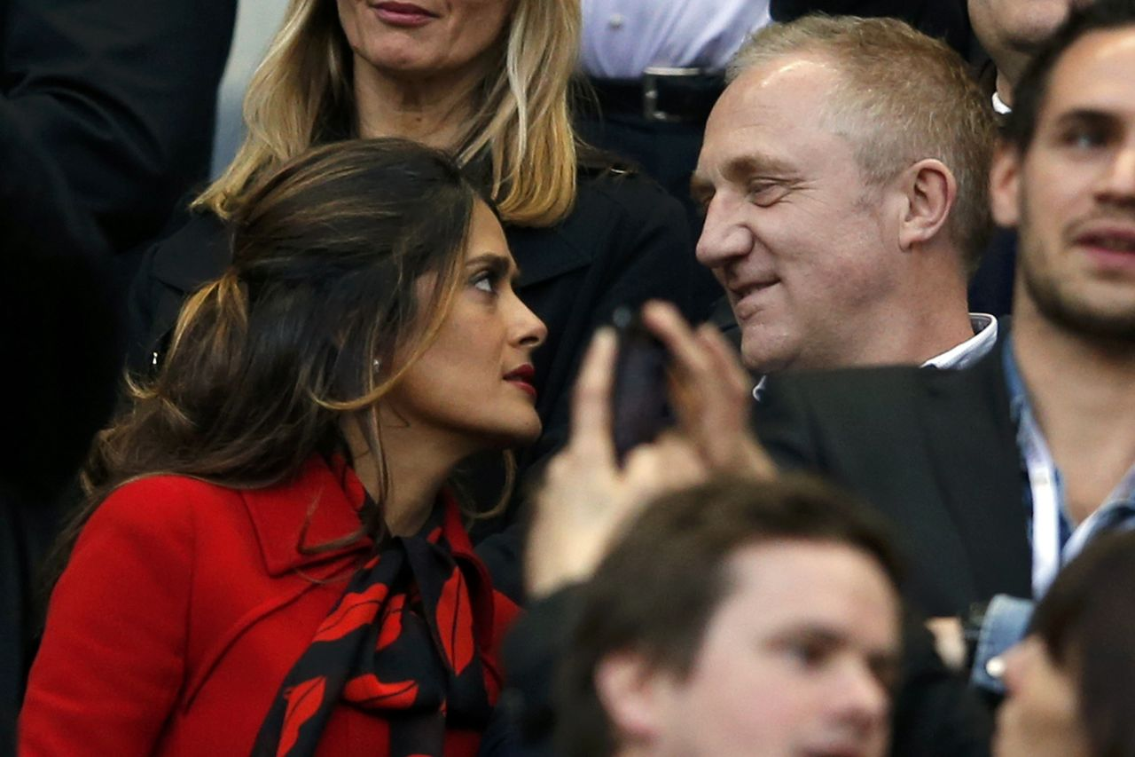 Salma Hayek - French Cup Final 2014 Soccer Match
