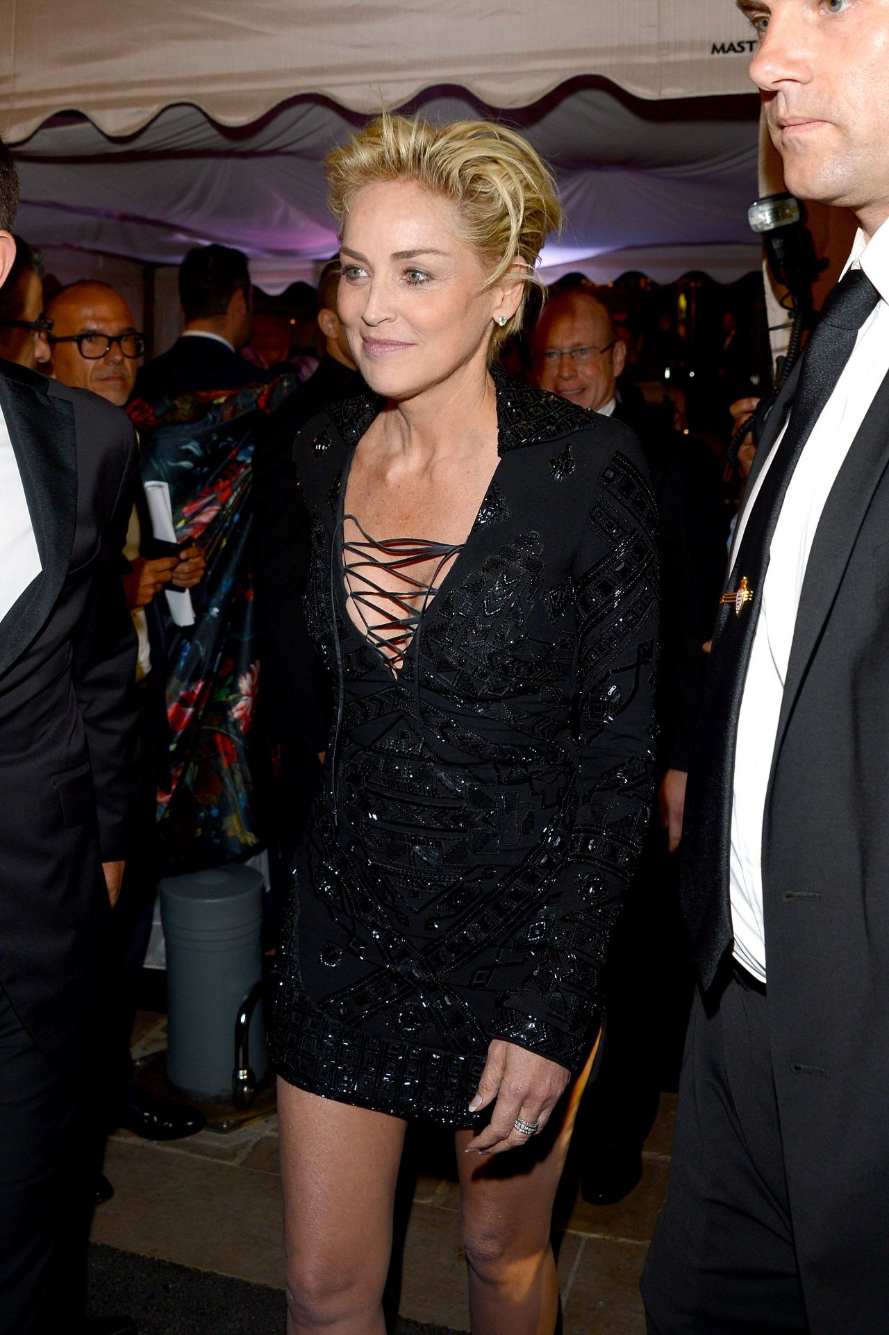 Sharon Stone – Roberto Cavalli Hosts Annual Party Aboard His Yacht ...