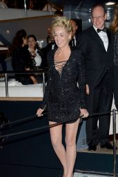 Sharon Stone - Roberto Cavalli Hosts Annual Party Aboard His Yacht - 2014 Cannes Film Festival